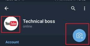 How to upload DP on telegram